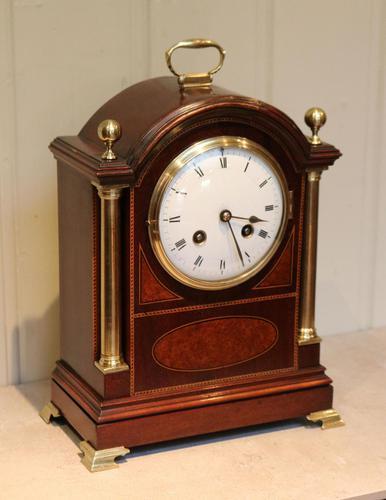 Mahogany and Inlay Bracket Clock (1 of 13)