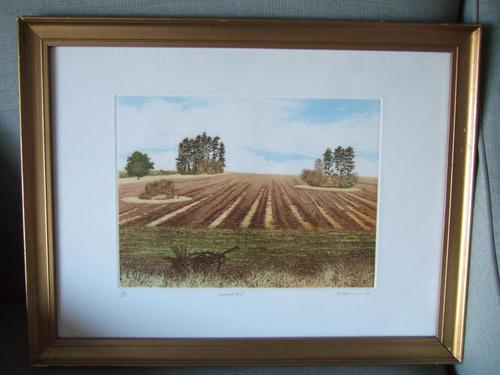 """Gilbert Browne Lithographic Print """"Harvest's End"""" (1 of 5)"""