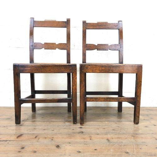 Pair of Country Bar Back Chairs (1 of 8)