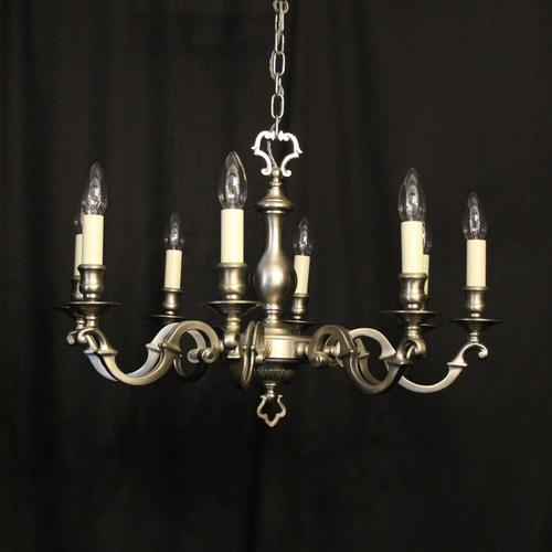 French Silver Plated 8 Light Chandelier (1 of 10)