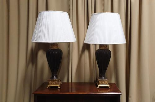 Pair of Urn Shaped Lamps (1 of 8)