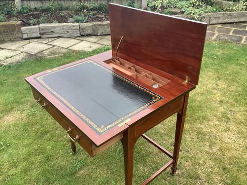 Edwardian Mahogany Ladies Writing Desk / Table (1 of 5)