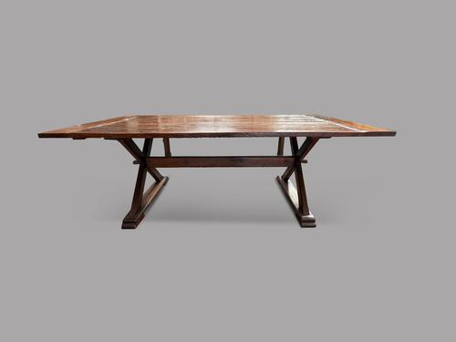 19th Century Topped French Oak Trestle / Dining Table (1 of 5)