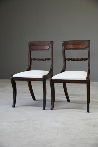 Pair of Regency Mahogany Dining Chairs (1 of 13)