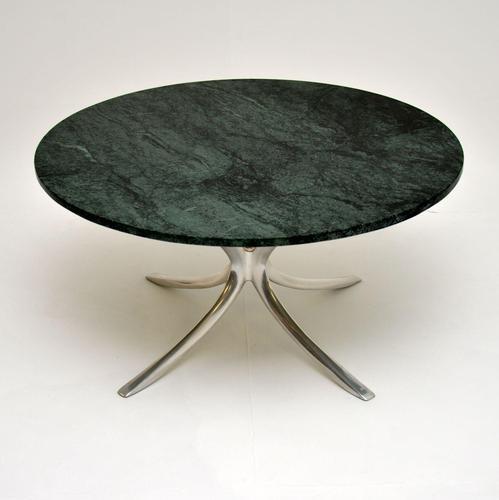 1960's Vintage Marble & Steel Coffee Table (1 of 6)