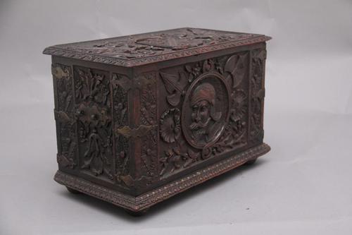 19th Century Carved Oak Log Box (1 of 11)