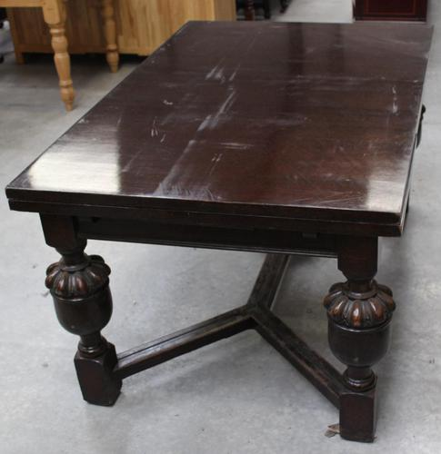 1940's Oak Bulbous Country Draw Leaf Table (1 of 4)