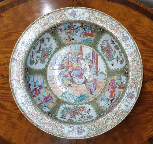 Huge Chinese Canton Famille Rose Bowl. 19th Century (1 of 7)