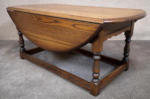 Wood Bros Old Charm Light Oak Drop Leaf Coffee Table (1 of 7)