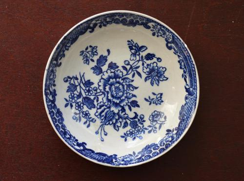 18th Century Liverpool Saucer - 'Three Stamens' pattern by J J or S Pennington (1 of 4)
