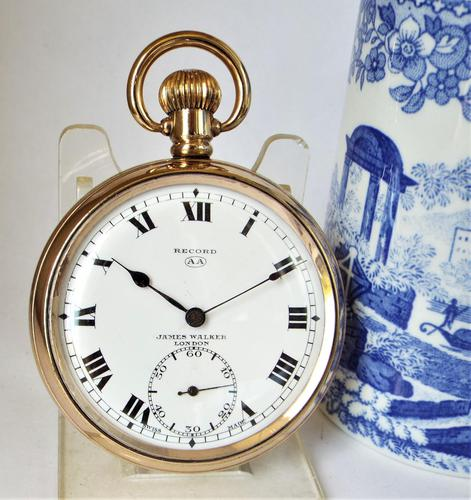1930s James Walker London Pocket Watch Made by Record (1 of 6)