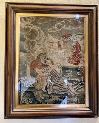 Interesting framed 18th Century Tapestry (1 of 2)