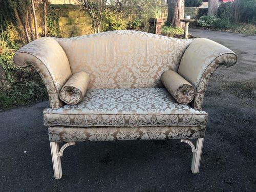 Antique English Small Upholstered Sofa (1 of 8)