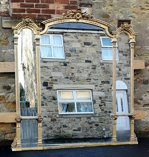 Large Impressive 19th Century Gilt Overmantle Mirror by C Nossotti (1 of 16)