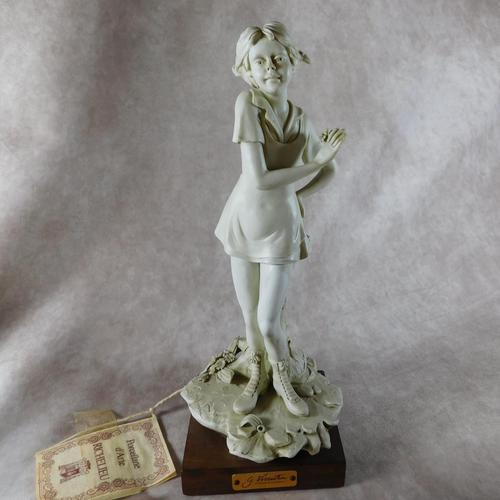 Biscuit Porcelain Sculpture of a Girl by Gianni Visentin (1 of 7)