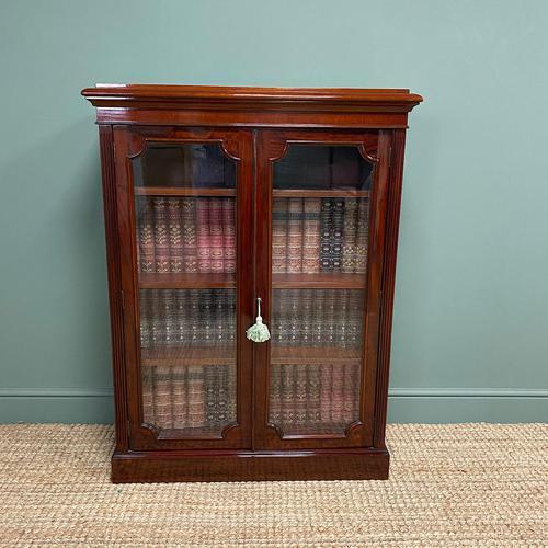 Stunning Quality Victorian Glazed Mahogany Bookcase (1 of 7)