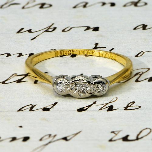 The Antique W.G&S Three Diamond Ring (1 of 3)