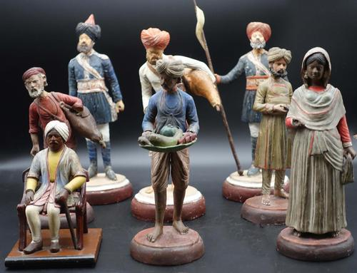 Late 19th Century Group of Eastern Terracotta & Plaster Figures (1 of 9)