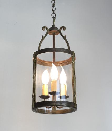 French Gilt Bronze Circular Lantern (1 of 11)