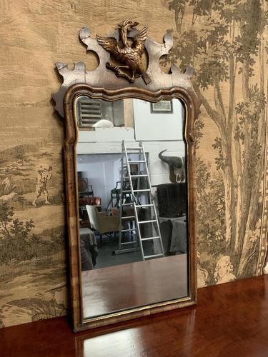 19th Century Mahogany Wall Mirror with Eagle Decoration (1 of 6)