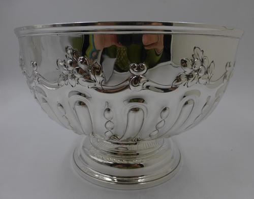 Antique Victorian Silver Rose Bowl. London 1898 (1 of 8)