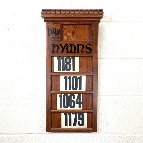 Early 20th Century Antique Hymn Board (1 of 4)