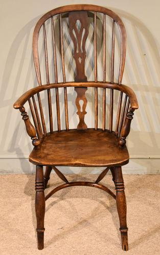 Mid 19th Century Ash & Elm High Back Windsor Armchair (1 of 7)