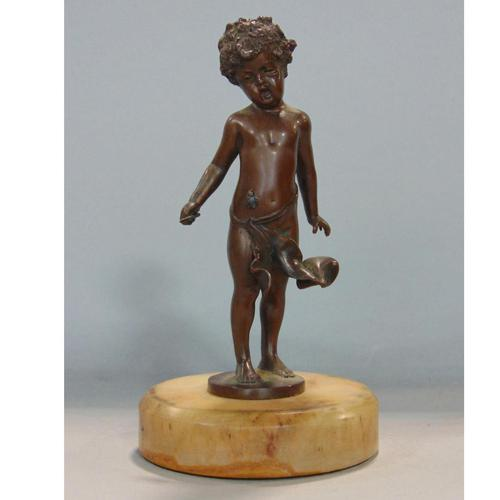 Fine & Very Charming Bronze Sculpture of Child & Fly 19th Century (1 of 6)