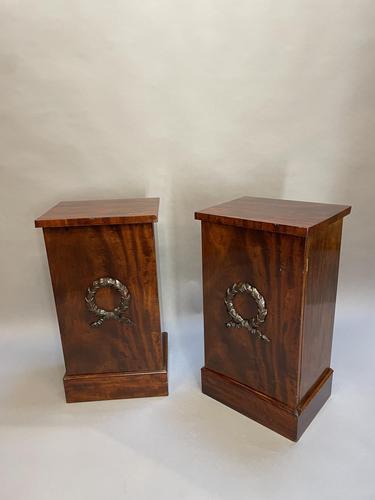 Pair of Mahogany Pedestal Cabinets (1 of 12)