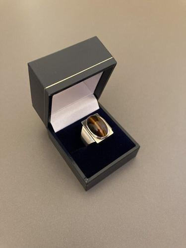 Georg Jensen Silver Ring with Tiger's Eye (1 of 4)