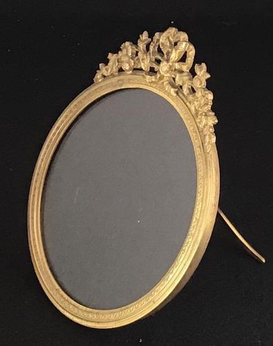 Edwardian Brass Circular Easel Photo Frame (1 of 4)