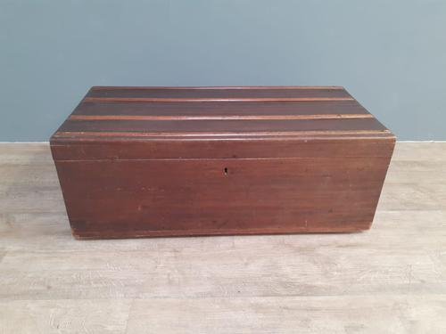 Early 20th Century teak travelling trunk (1 of 5)