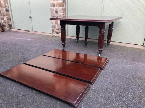 Antique Mahogany 3 Leaf Extending Dining Table (1 of 12)