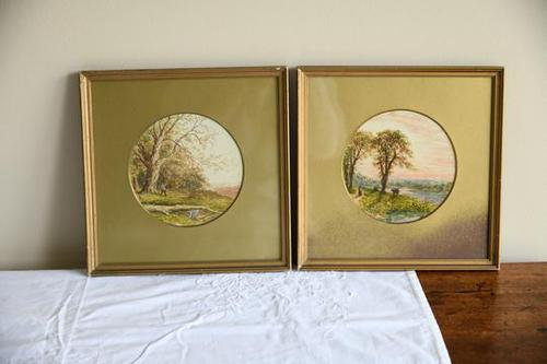 Pair of Watercolours Walter Charles Way (1 of 12)