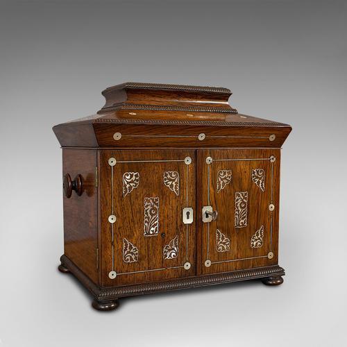 Antique Gentleman's Correspondence Box, Campaign, Travel Case, Regency, C.1820 (1 of 12)