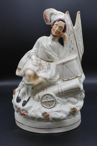 Mid 19th Century Flatback Figure of a Scottish Musician (1 of 5)