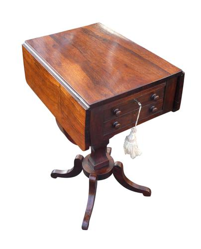 An attractive Regency rosewood sewing table circa 1820 (1 of 3)