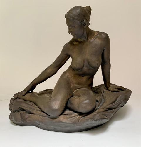 Walter Awlson - A Large Ceramic Figure of a Seated Nude (1 of 4)