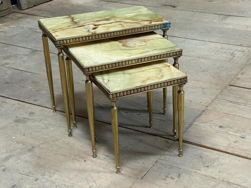 Nest 3 Onyx & Brass Tables (1 of 16)