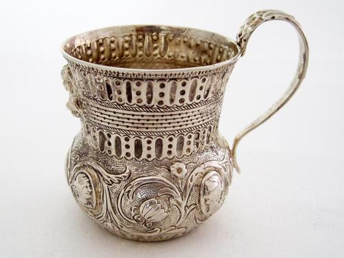 Georgian Silver Christening Mug with a Waisted and Globular Form (1 of 6)
