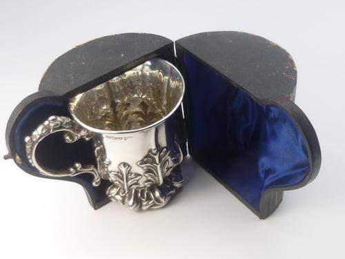 Edwardian Silver Christening Mug & Box (1 of 10)