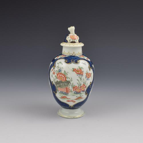 First Period Worcester Blue Scale & Kakiemon Tea Canister / Caddy (1 of 11)