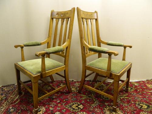 Arts & Crafts oak armchairs - Shapland & Petter (1 of 6)