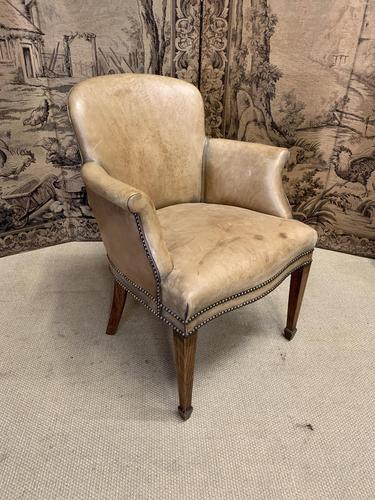 Leather Armchair on Square Tapering Legs (1 of 5)