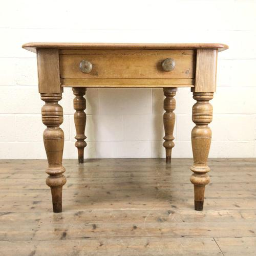 Antique Pine Kitchen Table (1 of 7)