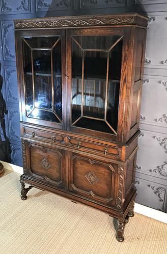Oak Twist Leg Bookcase (1 of 13)
