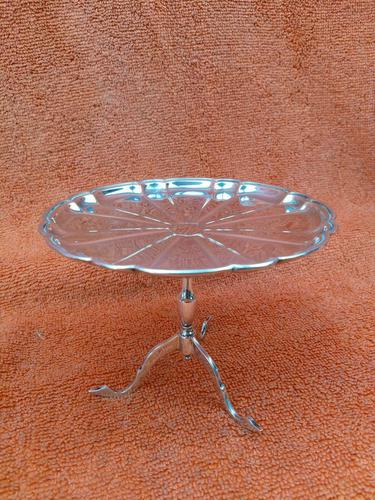 Antique Sterling Silver Hallmarked 1909 Bon Bon Dish as Table, Synyer & Beddoes (1 of 11)