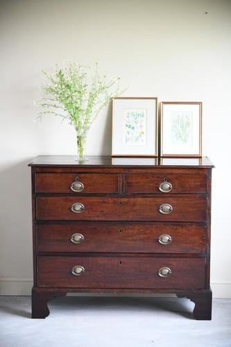 19th Century Mahogany Chest of Drawers (1 of 12)