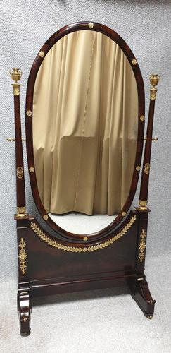 Exhibition Quality Empire Cheval Mirror (1 of 11)