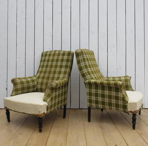 Pair of Napoleon III French Armchairs for re-upholstery (1 of 9)